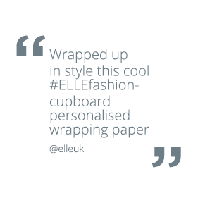 Wrapped up in style this cool #ELLEfashion - cupboard personalised wrapping paper @elleuk